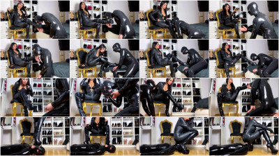 Evil Woman - Boot Worship In Leather Catsuit