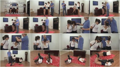 Madalynn Raye And Elizabeth Andrews : Dual Leather Strap Hogties - new, boss, while, having, download