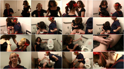 Toilet Paper Sissy Humiliation - FemDom Public Bathroom BDSM