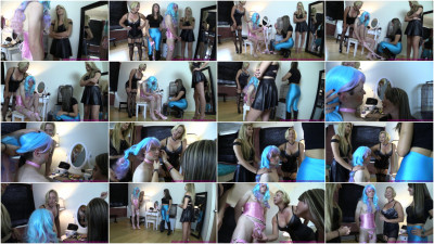 Girl and Friend Turn Bro into Sissy with Help from Milf