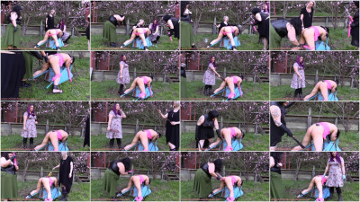 Happy Spring — Outdoor Screaming Sissy Moresome — Bubble Butt Fucking