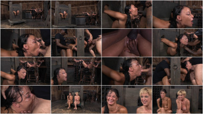 Two sluts restrained in strict bondage
