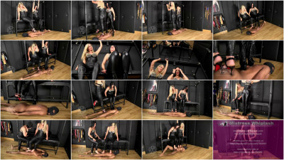 Nikki And Bellatrix - Human Carpet Double High Heel And Barefoot Trample