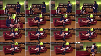 Over the Knee Hand Spanking - Couch - Full HD 1080p