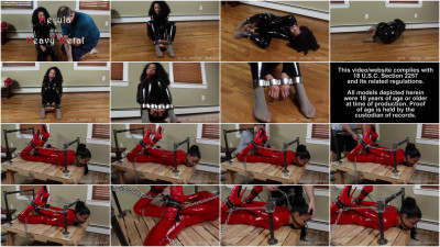 Super bondage, domination and hogtie for young slavegirl