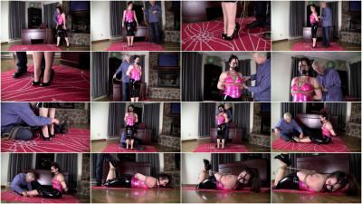 Jasmin Jai: Pink And Black Latex Hogtie