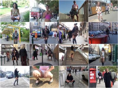 MegaPack 2016 - «Extreme public piss» — Best 34 clips.