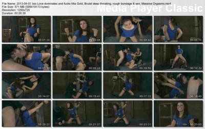 Isis Love dominates and fucks Mia Gold, Brutal deep throating, rough bondage & sex - HD 720p (usa, new, deep throat, download)