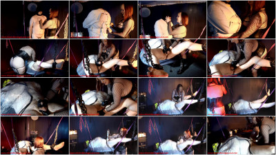 Basement Bondage Layers — Straitjacket Mummy Handjob