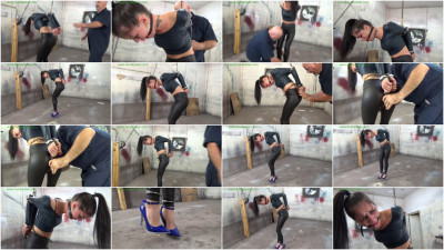 HunterSlair - Michelle Peters - Left hanging by her cuffed elbows