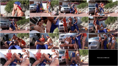 Crazy Car Service Cuties (group sex, work, best, friend)