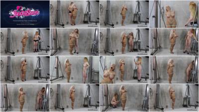 Brutal Boob Tie Semi Suspension For Voluptuous MILF Sandra Silvers
