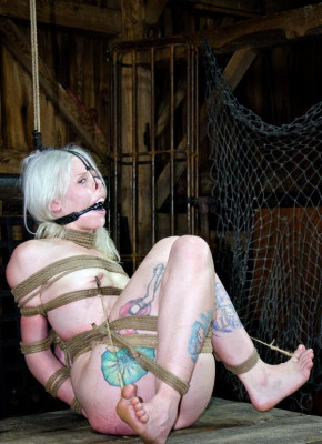 Pretty Blonde in good BDSM