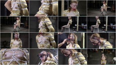 Huge Gags, Drool, and a Reverse Prayer Hogtie for Moxie - Scene 3 - HD 720p