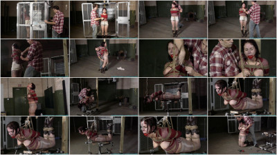 Futile Struggles - Cherry Doll Caged, Walked, Clamped, Groped, Spanked, CrotchRoped, Hogtied