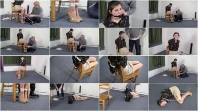 Angelica Lenn - Chairtied to Balltie (vid, online, bondage).