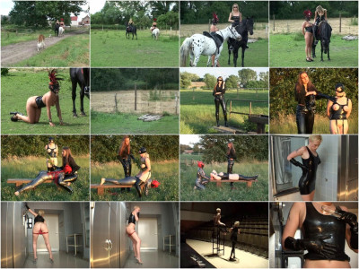 Latex-Nymphen-Ponygirl