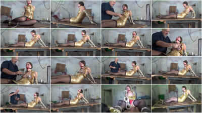 Rachel Adams - Cuffed & Chained To His Table For Cruel Breast Vacuum Torment
