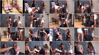 Christina, Emma And Mia - Face Slap And Humiliate Their Teacher