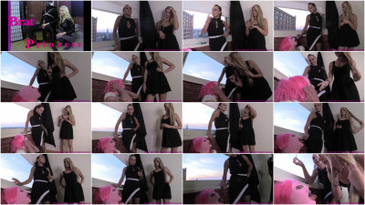 Chloe And Sasha - Sissy Slave Fed Cigarette Ash