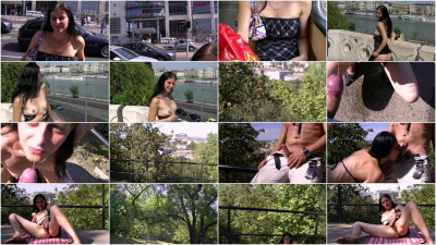 Crazy slut: Casting in the city center