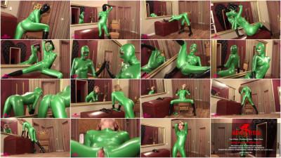 Lindsey Cruz - Green full body latex suit