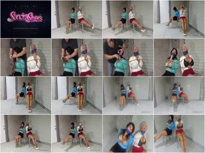 Distress Chair-tied and Gagged on Screen! - Sandra Silvers & Gigi
