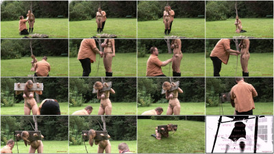 Outdoor Breast Predicament - Bettine In The Stock