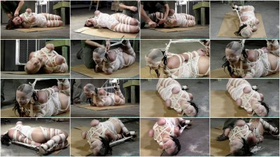 JJ Plush hogtied with a Lot of Rope - Part 3 - HD 720p