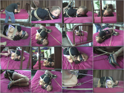 Lola Lynn Hogtied Gagged And Clamped Part 2