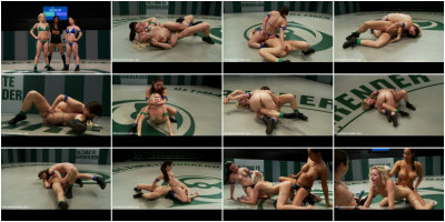 Serena kicks ass, makes rookie cum on the mat. Destroys her physically, sexually, total humiliation!