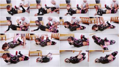 Black Stretch Bodysuit Hogtie
