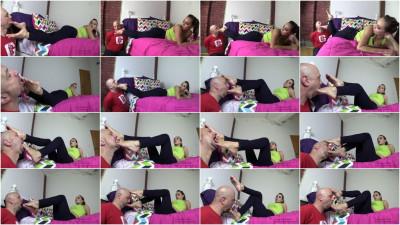 Old Man Worships A Bratty Princess