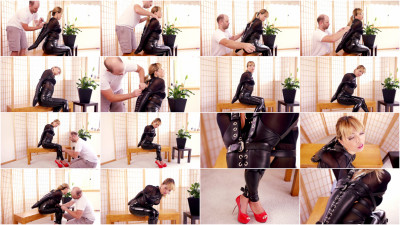 Black Lacing Armbinder - Mina - Full HD 1080p