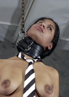 Hot young body in BDSM.