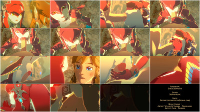 Mipha and Link — Full HD 1080p