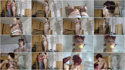 Jolies Big Tits Bounce As She Hops To the Workshop To Be Ziptied 3 part - BDSM