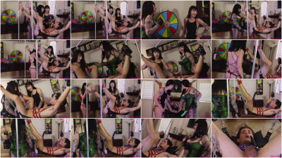 Dommes play Wheel of Fortune with their Slave's Holes - Severe - HD 720p