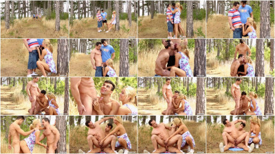 Three little bisexuals lost in the woods - large, holes, anal, three, horny