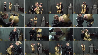 Super bondage, domination and hogtie for sexy girls in latex