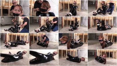 Hogtie For Young Girl In latex
