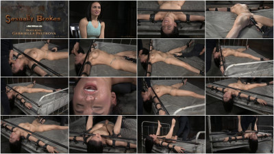 Sexy brunette Gabriella Paltrova bound and roughly fucked by big dick