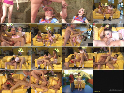 Max and three schoolgirls on basking in his urine - schoolgirl, nasty, extreme, good