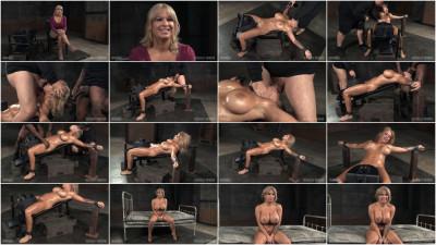 Huge breasted blonde restrained facefucked & multiple orgasms