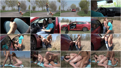 Kizzy Sixx - Hot Hitchhiker Gets Pounded