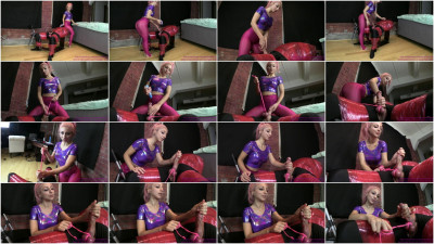 Alexa - Handjob With Balls Tied In Rope Leash