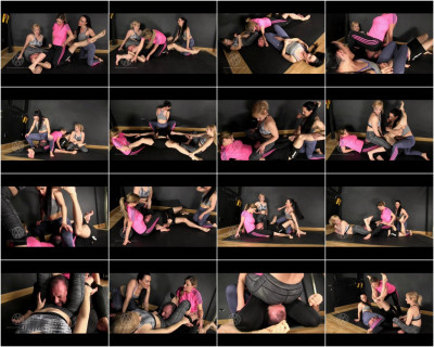 Nikki Whiplash, Axa Jay & Chloe Lovett — Wrestled into submission by 3 strong girls