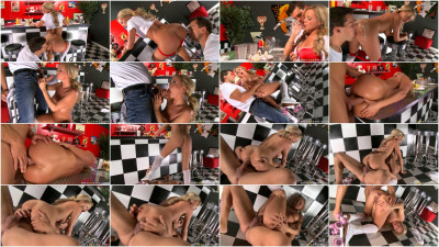 Nice Blonde Hottie Gets Anally Stretched By Client