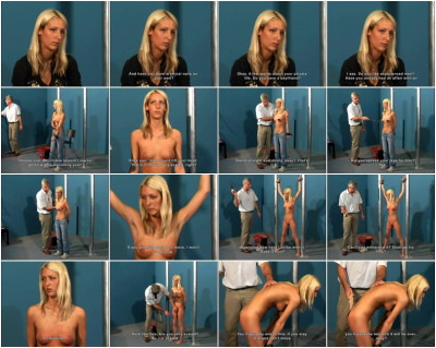 Anett Blonde (19 years) Casting Elite Pain