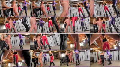 Chloe, Mia & Natalya - Long Brutal Ballbusting